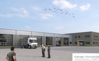 Spatenstich – LKW-Werkstatt in Hollenstedt